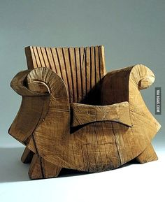 Carved with a chainsaw