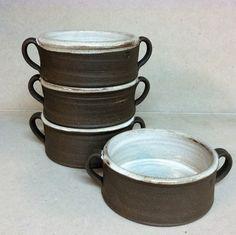 handmade bowl souffle bowl ceramic bowl rustic by altheaspottery