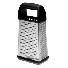 Oneida Kitchenware Good Cook Box Grater with Lid Container by Oneida. $9.99. 10% Off on orders over $75. Use Code: SPE10. This Box Grader with Lid Container has a choice of 4 coarseness surfaces; coarse, fine, and super-fine grating surfaces, plus a slicing surface for grating cheese and vegetable effortless. A storage container catches grated ingredients. The design features a soft grip handle and non-slip base for easy, safe use. The container is marked for measuring, c...