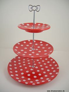 cake stand etagere dots ceramic by Dreamceramics on Etsy