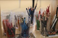 Setting up the Teacher: A Peek into Nammi's Classroom Reggio Inspired Classrooms, Reggio Classroom, New Classroom, Classroom Organization, Classroom Decor, Colored Pencil Storage, Reggio Children, Preschool Rooms, Preschool Ideas