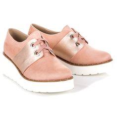 #Półbuty #Damskie #Seastar #Różowe #Wiązane #Półbuty #Na #Platformie #Seastar