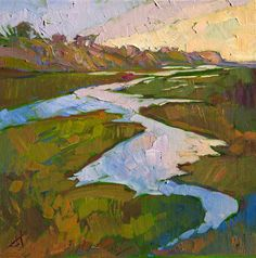 California landscape painting by modern impressionist Erin Hanson