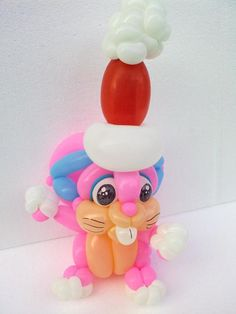 Balloon Christmas bunny made by Balloontwistee