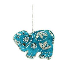 From BM shop: a handmade hanging decoration inspired by a blue earthenware hippo figurine from ancient Egypt in the British Museum.