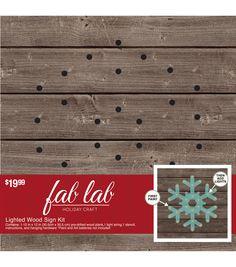 Fab Lab™ Snowflake-Wood Light Kit   Holiday String Art   Holiday Craft