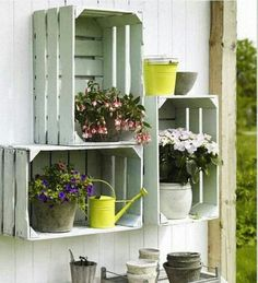 Gardens decorations on pinterest tuin pallets and van - Grijze muur deco ...