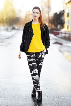 Ebba Zingmark wearing pants and jacket from JUNKYARD XX-XY. #junkyard #junkyardcom #junkyardxxxy