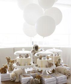 love the neutral palette of this 1st birthday party via marthastewart.com