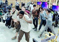 how seems the difference? — dylanobrizen: The Maze Runner cast dancing.