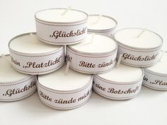 Wedding Favors - Wedding Christening Candle - a designer piece of . Wedding Favors – Wedding Christening Candle – a unique product by on DaWanda Best Wedding Gifts, Christmas Party Invitations, Stamping Up, Gifts For Family, Christening, Wedding Favors, Diy And Crafts, Projects To Try, Christmas Gifts
