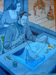 Moebius (Jean Giraud)  #comics #illustration #moebius