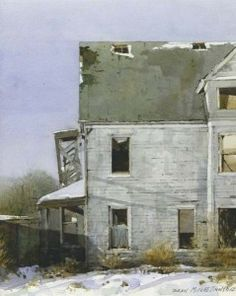 Dean Mitchell :: Astoria Fine Art Gallery in Jackson Hole Watercolor Architecture, Watercolor Landscape, Landscape Paintings, Watercolor Paintings, Watercolours, Landscapes, Watercolor Artists, Dean Mitchell, Andrew Wyeth