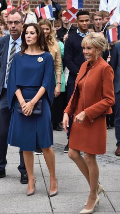 Clearly Brigitte Macron and Mary, Crown Princess of Denmark