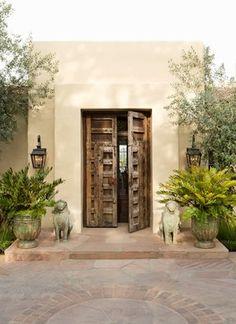 Mission-Style Rancho in San Diego mediterranean-entry