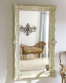 Antique White Mirror. I have a mirror just like this and I want painted like this!