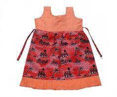 Apricot dress for girl Combined ankara and poplin cotton fabric. Children Wear, Kids Wear, Apricot Dress, Dresses Kids Girl, Ankara Styles, Poplin, African Fashion, Kids Girls, Summer Dresses