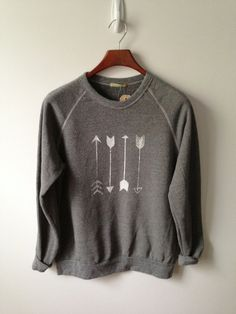 Back2School Sale // Arrow . Champ Sweatshirt by greythread on Etsy, $37.50