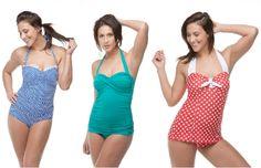 Retro bathing suits