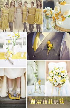 Holy yellow! But still, fun and those bridesmaids dresses are pretty fun! Just saw this and thought you may like to take something from it. :)