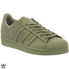 quality design e1cf6 03549 Adidas Superstar 1 Pharrell Supercolor Shift Olive His trainers (335 BRL) ❤  liked on