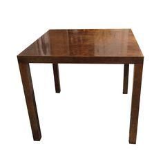 Mid-Century Burl Wood Game Table on Chairish.com