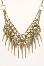 urban outfitters spikey  gold necklace