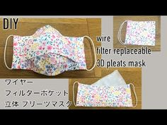 DIY pleats mask How to make a three-dimensional pleats mask Filter pocket Wire Nunoguchi trap filter replaceable 필터 교체 마스크 만들기 - Super masque ergonomique, je n& pas mis les petites lamelles métal car je n& ai pas t - Sewing Patterns Free, Free Sewing, Free Pattern, Sewing Hacks, Sewing Tutorials, Sewing Projects, Diy Mask, Diy Face Mask, Diy Couture
