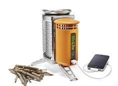BioLite CampStove - uses twigs as fuel and recharges your usb powered devices.