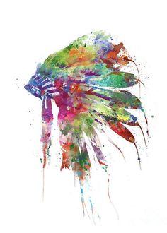 #indichief #feathers #nativeheaddress #headdress #wallart