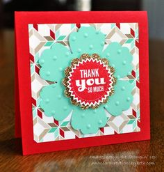 3x3 Thank You Card; Stampin Up; www.cardcreationsbybeth.com