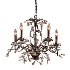 Titan Lighting - 5-Light Ceiling Mount Deep Rust Chandelier - TN-5881 - Home Depot Canada  $319