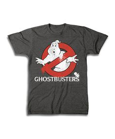 Look at this Charcoal Ghostbusters Logo Tee - Men's Regular on #zulily today!