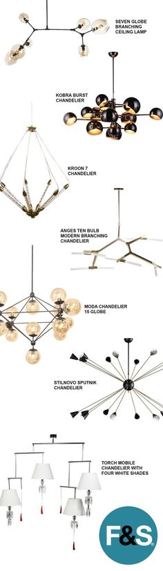 Modern and Mid-Century Modern Chandeliers and Ceiling Lamps at France & Son. See more DIY lamp tips and tutorials at http://ilikethatlamp.com