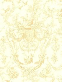 Wallpaper Old World Toile Wallpaper pattern AT4239. Keywords describing this pattern are toile, flowers with animals, branches.  Colors in this pattern are Yellow Green.  Product Details:  prepasted  strippable  washable  Material is UNKNOWN. Product Information:  Book name: Inspired by Color Beige Pattern name: Old World Toile Wallpaper Pattern #: AT4239 Repeat Length: 20 1/2 inches.  Pattern Length: 16 1/2 inches.  Pattern Length: 20 1/2 inches.