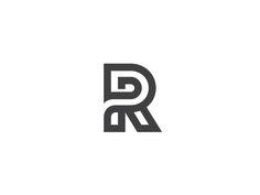 R letterform, monogram, lettermark.