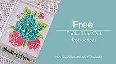 Our free downloadable instructions on how to create this floral Thinking of You Card by Leah.  #chameleonpens #alcoholmarkers #card #greetingscard #instructions #stepbystep #free #download #craft #papercraft #crafting #blog #markers #thinking #of #you #floral #blue #pink #green #colour #color #colouring #coloring #arts&crafts #artsandcrafts #art #crafts