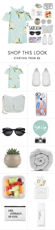 """Sin título #281"" by sofhiree20 ❤ liked on Polyvore featuring MANGO, Golden Goose, Ted Baker, Casetify, Seventy Tree, M&Co, Marc Jacobs, NARS Cosmetics and Pier 1 Imports"