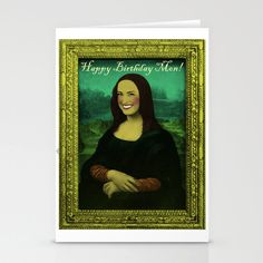Funny Birthday Card, Custom Order, Mona Lisa funny collage #mona #lisa #birthday #card #gift #funny #collage #original