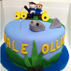 Father & Son Fishing Cake #cake