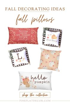 If you're looking for easy and budget-friendly home decor ideas for Fall, you will definitely want to check out these beautiful and cozy Fall Pillows! These Autumn Throw Pillows are the perfect way to decorate your bedroom, living room, porch, entryway - or any space that needs a little more cozy flair! They go with any home decor style whether you're into the modern farmhouse style, traditional and classic, or modern minimalist. Take a look at the Fall Pillow Collection from Pine Flat… Fall Pillows, Diy Pillows, Throw Pillows, Modern Farmhouse Living Room Decor, Farmhouse Style, Diy Home Decor Projects, Decor Ideas, Entryway Wall Decor, Nursery Room Decor
