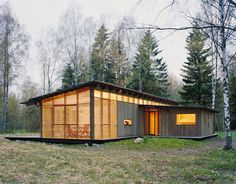 Summer Cabin Design - Award-winning Wood House by WRB | Modern House Designs. Sweden