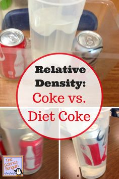 Relative Density: Coke vs. Diet Coke