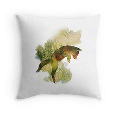 'Spring Fox' Throw Pillow by Sybille Sterk Fox Illustration, Special Deals, Original Art, Throw Pillows, Texture, The Originals, Spring, Color, Design