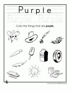 purple colors 231x300 Learning Colors Worksheets for Preschoolers