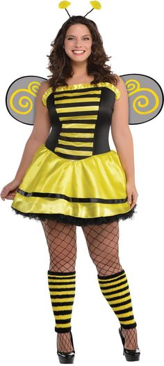 Adult Darling Bee Costume Plus Size - Party City | Halloween ...