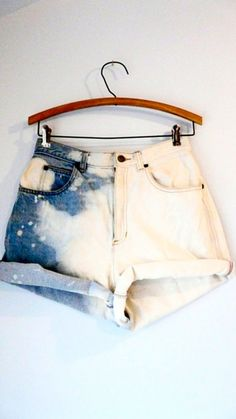 bleached shorts Half and half Moda Outfits, Cute Outfits, Looks Style, Style Me, Diy Shorts, Lookbook, Swagg, Diy Clothes, Spring Summer Fashion
