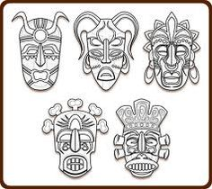 Tribal Masks Art Coloring