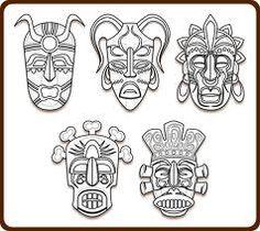 Tribal Masks Art Coloring