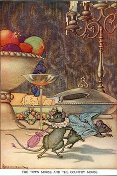 The Country and The Town Mouse--Milo Winter--Aesop's Fables